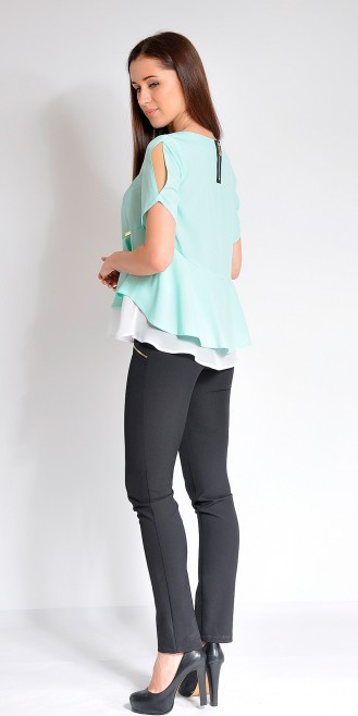 Блузка LOVELY OLGEN цвет бирюза