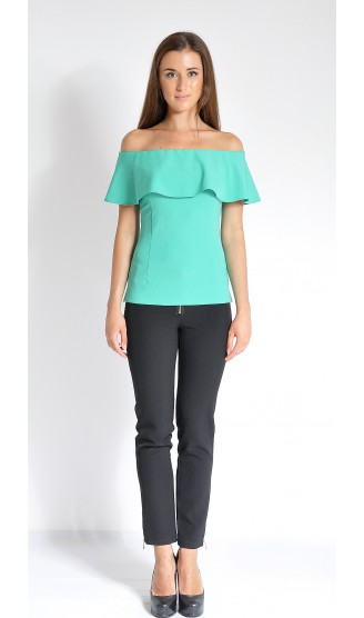 Блузка LOVELY OLGEN цвет зеленый